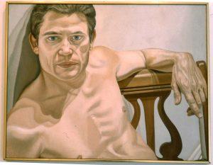1975 Portrait of Scott Burton Oil 28 x 36