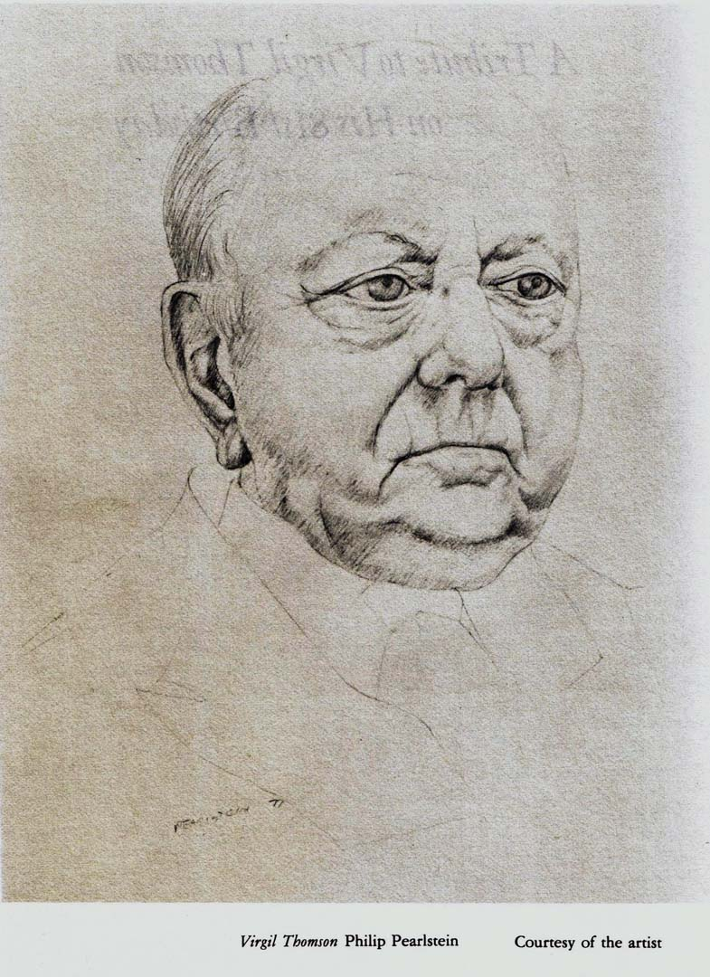 1977 Virgil Thomson Drawing Dimensions Unknown