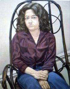 1980 Portrait of Cathy Melzer Oil 46 x 36