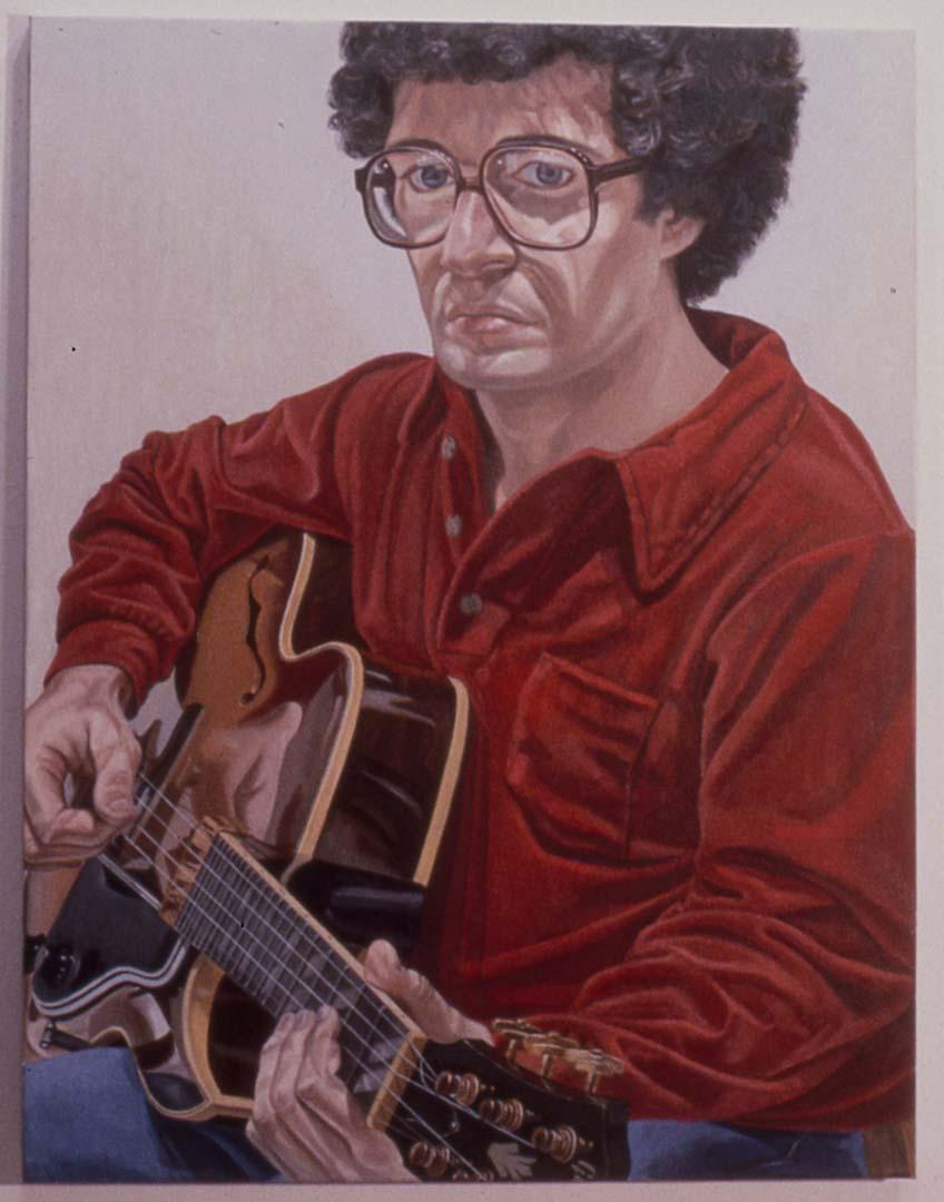 1980 Portrait of William Pearlstein Oil on canvas 36 x 28