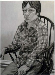 1981 Portrait of Steven Melzer Oil on canvas 40 x 24