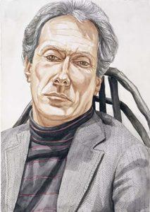 1983 Mark Strand watercolor 29.375 x 20.75