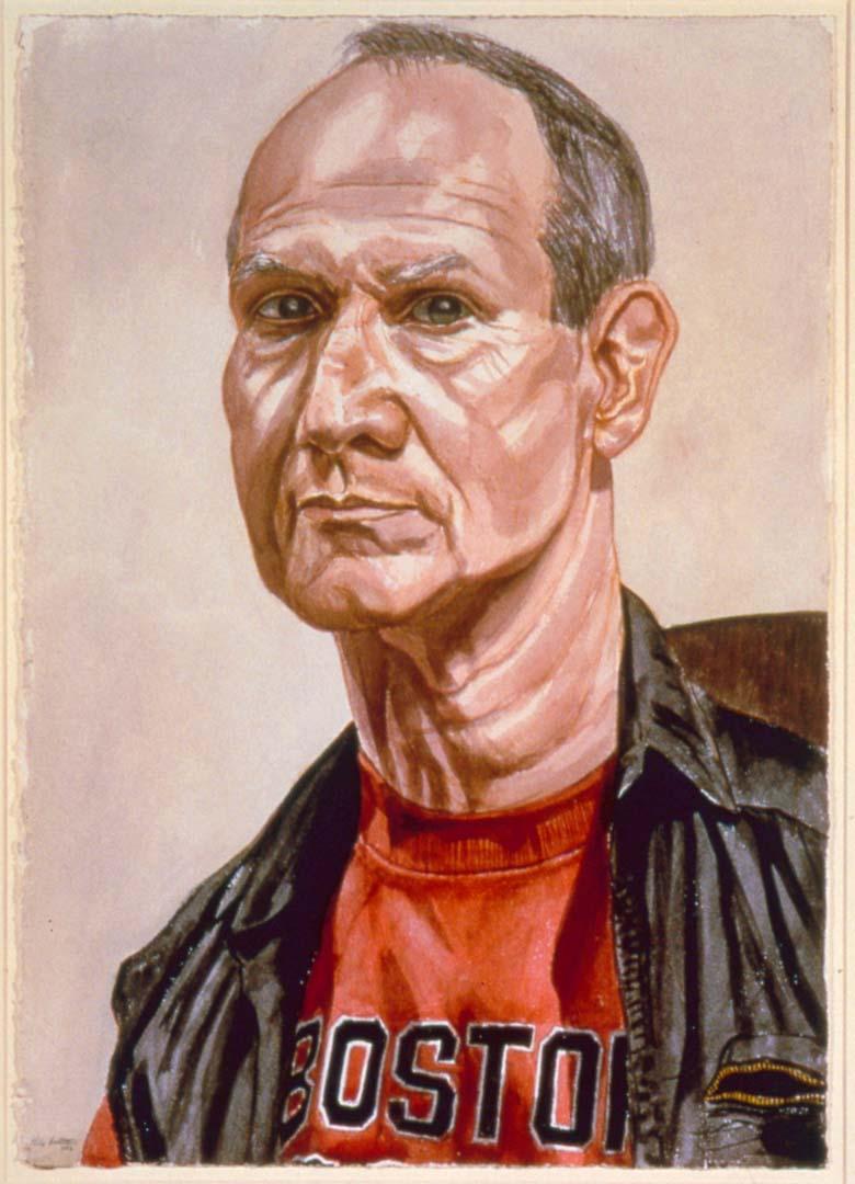 1986 Portrait of Jack Mitchell Watercolor 29.25 x 20.625