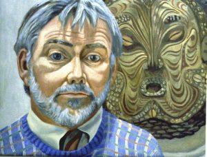 1986 Portrait of John Fitz Gibbon Oil on canvas 23 x 29