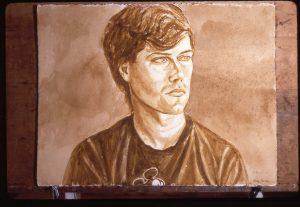 1987 Subject Unknown Sepia Wash Dimensions Unknown