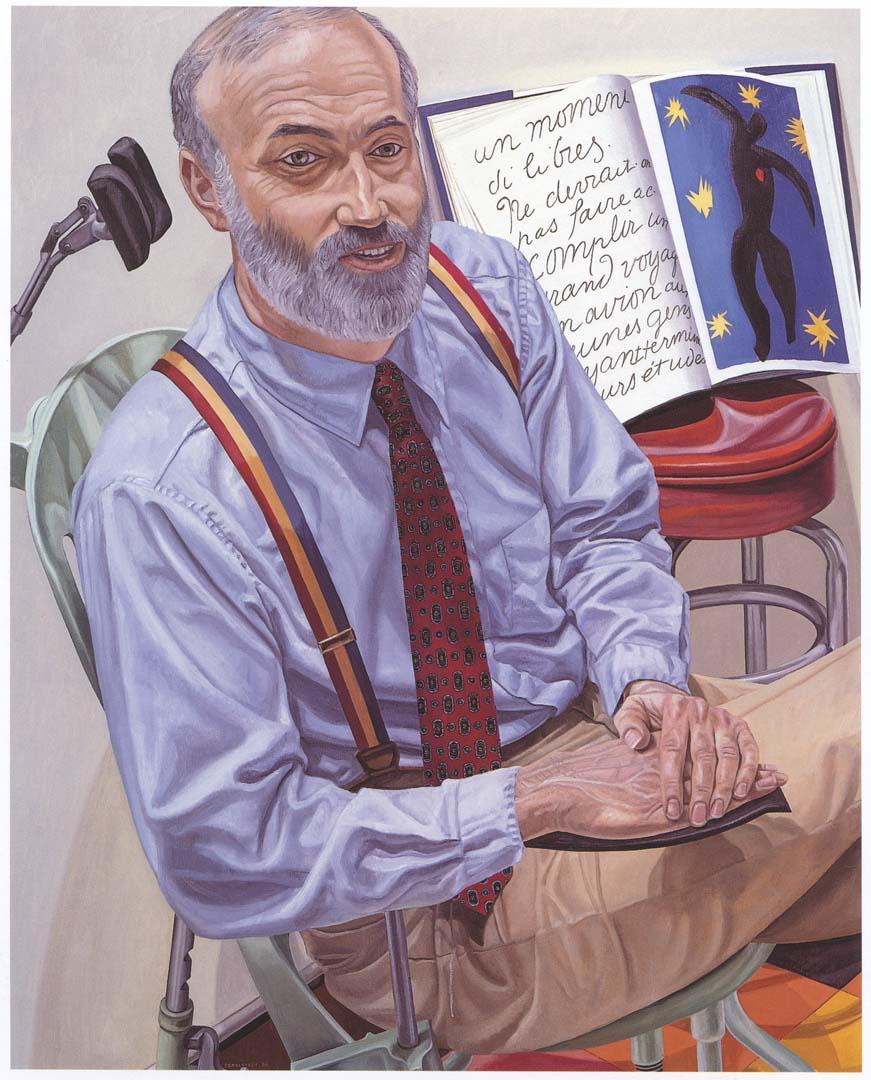 1988 Portrait of Dr. Lewis Dubroff Oil on canvas 60 x 48