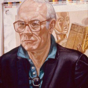 1988 Portrait of Jerry Whitely Oil 30 x 28