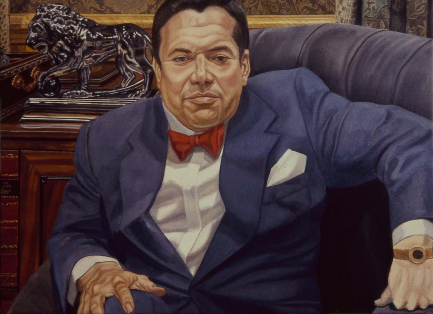 1990 Portrait of Saul Steinberg (Progress) Oil 48 x 36