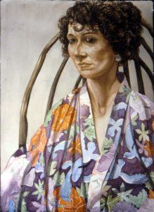 1993 Portrait of Ellen Pearlstein Watercolor 41 x 29.75