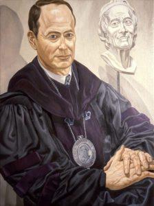 1993 Portrait of Paul LeClerc Oil 48 x 36