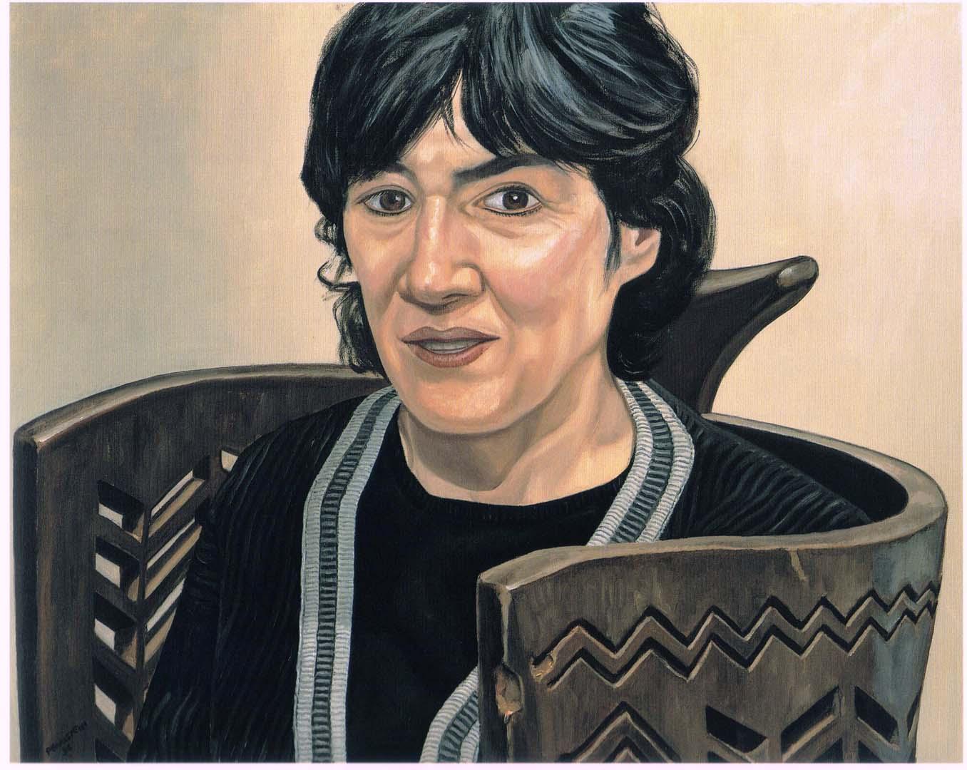 1996 Portrait of Jane Kaplowitz Oil on canvas 24 x 30