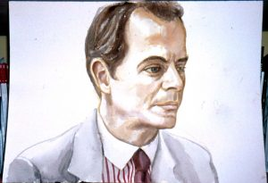 1998 Portrait of Arnold Brizzi Watercolor Dimensions Unknown