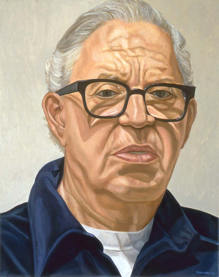1998 Portrait of Morris Dorsky Oil 30 x 24