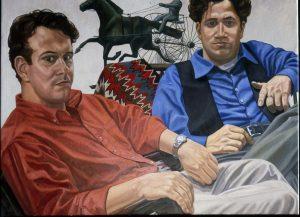 1999 Portrait of Sam and Allan Fleishman Oil Dimensions Unknown