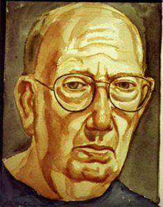 2000 Pearlstein Self Portrait Watercolor 10 x 12