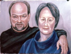 2002 Portrait John and Pam Harding Watercolor Dimensions Unknown