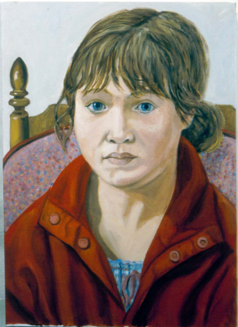 2003 Portrait of Sophia Rose Pearlstein Oil on Canvas Dimensions Unknown