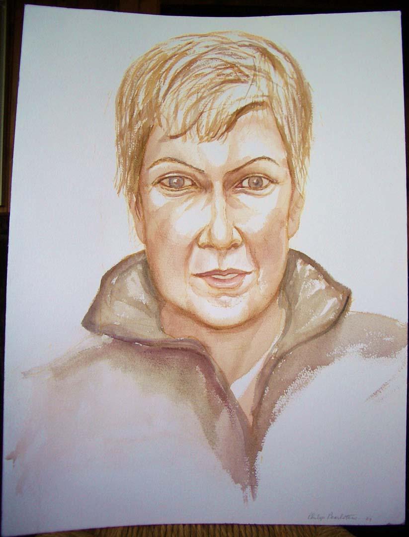 2004 Portrait of Amy Fusselman Watercolor Dimensions Unknown