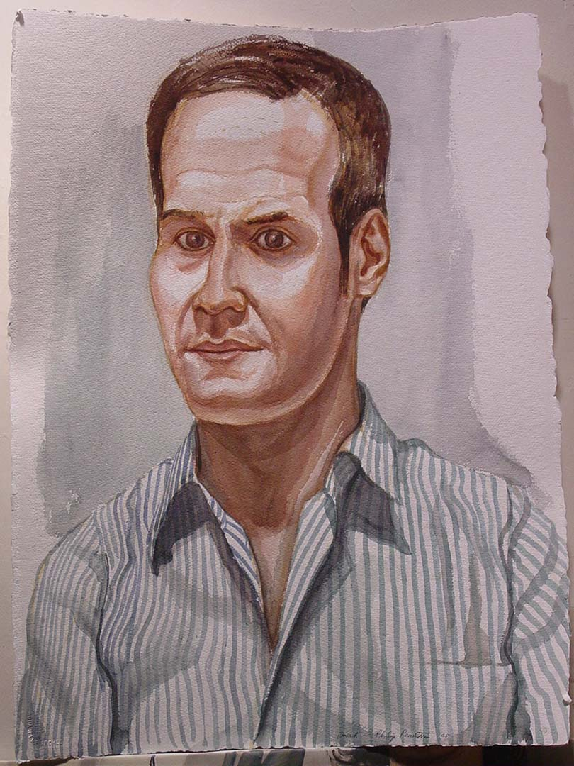 2005 Portrait of David Rees Watercolor Dimensions Unknown