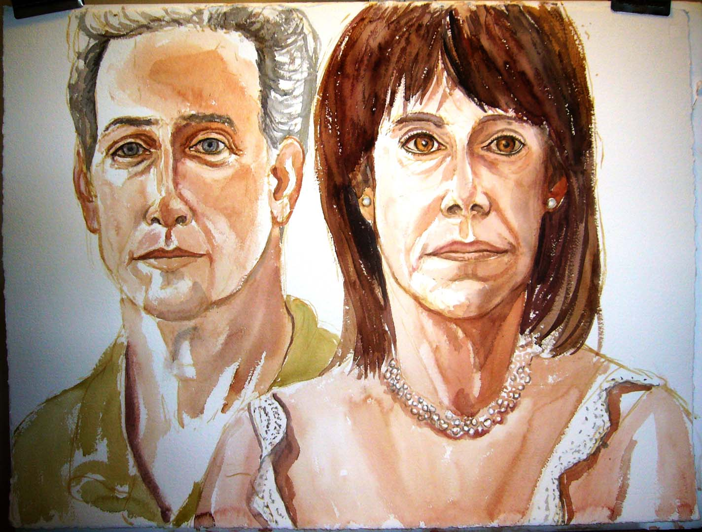2006 Portrait of Mr & Mrs Dr. Jeffery Graf watercolor on paper Dimensions Unknown