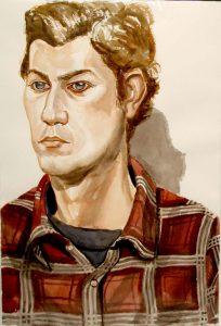 2007 Portrait Adam Winner Watercolor Dimensions Unknown