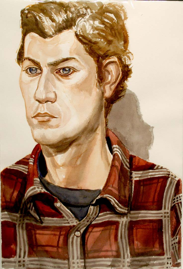 2007 Portrait Adam Winner Watercolor Dimensions Unknown