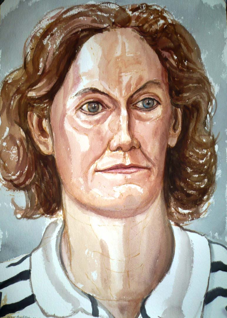 2007 Portrait of Judith Ginsberg Watercolor Dimensions Unknown