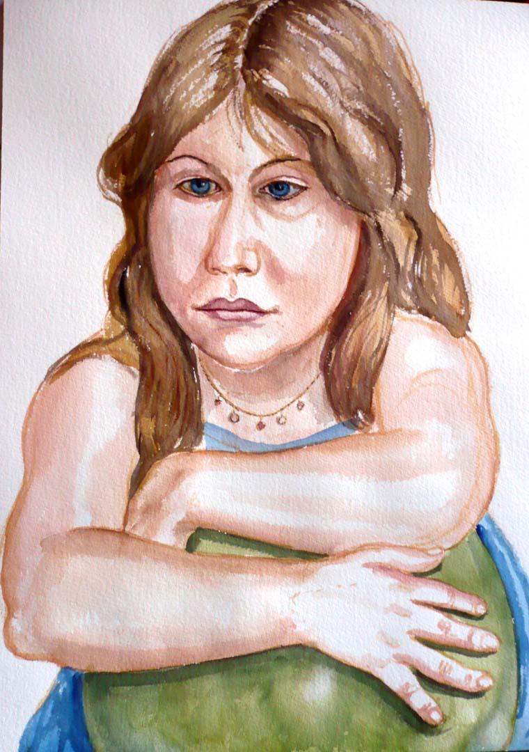 2007 Portrait of Zoe Cohen Watercolor on paper Dimensions Unknown