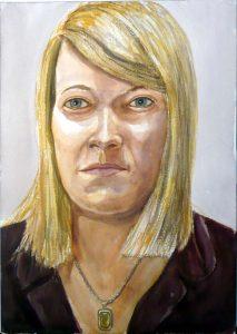 2008 Portrait of Courtney Severin Watercolor 20 x 14