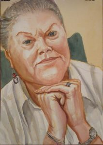 2010 Portrait of Peggy Tenner Watercolor 20 x 14