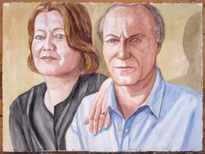 2011 Sandra Amann and Michael Pashby Watercolor 22.5 x 30.125