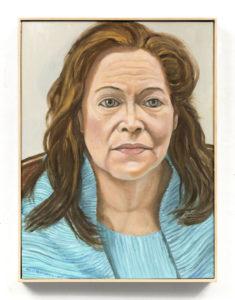 Portrait of Alice Gitter, Oil on Canvas, 18 x 24